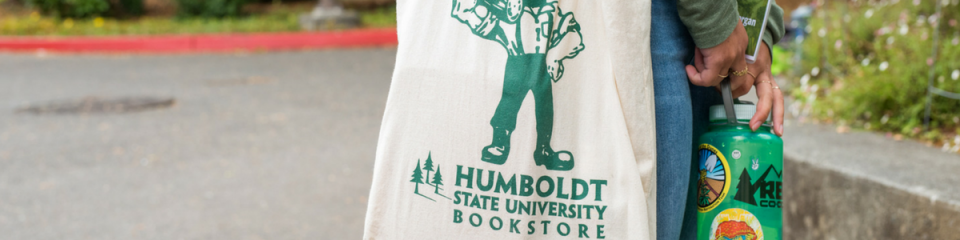 Accessibility Photo - student with bookstore bag