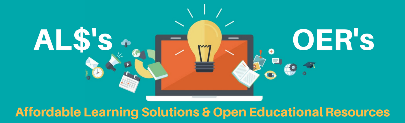 Banner reads Affordable Learning Solutions & Open Educational Resources
