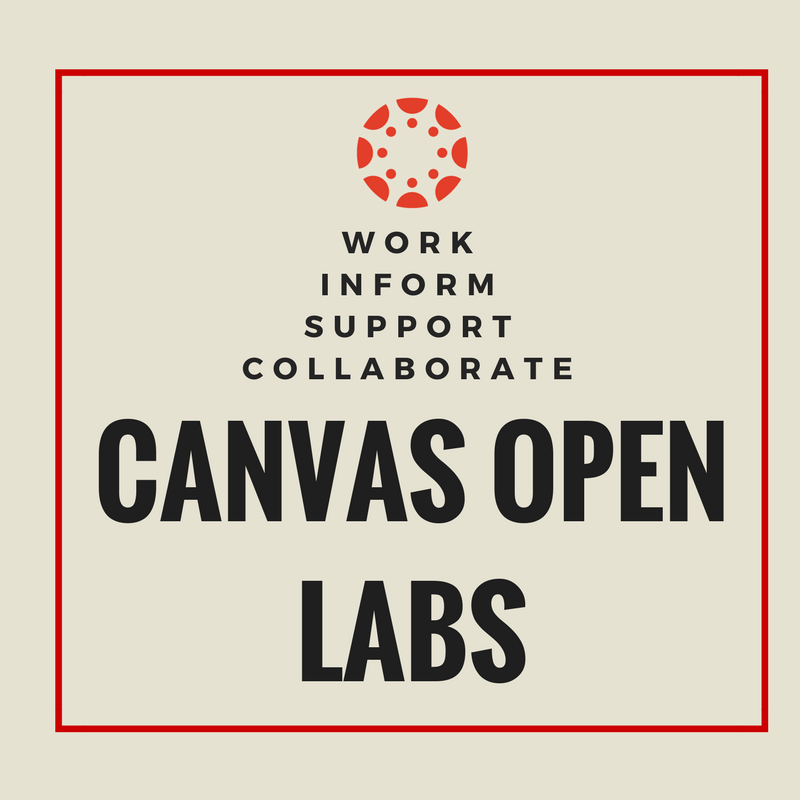 Canvas Open Labs text Flyer