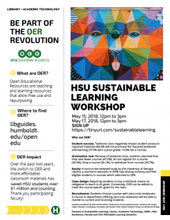 Sustainable Learning Workshop Flyer